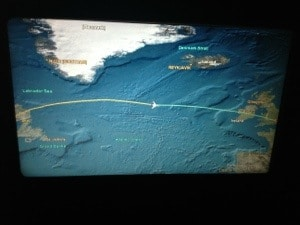 Map on Airplane Monitor