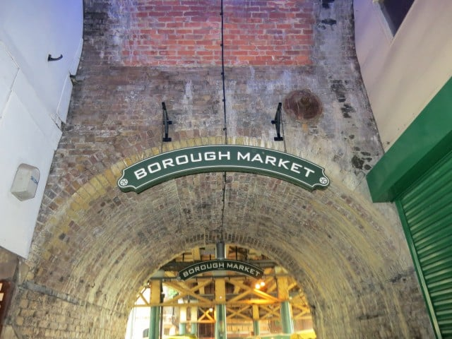 Borough Market Entrance in London England