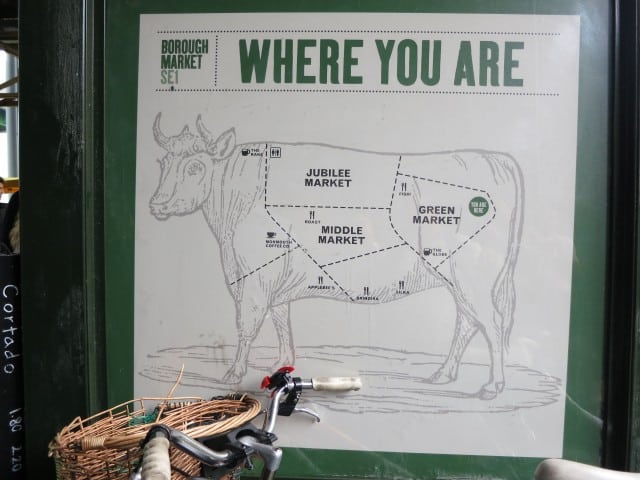 Borough Market Map in London England