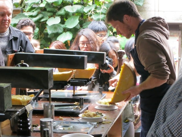Raclette at Borough Market in London England