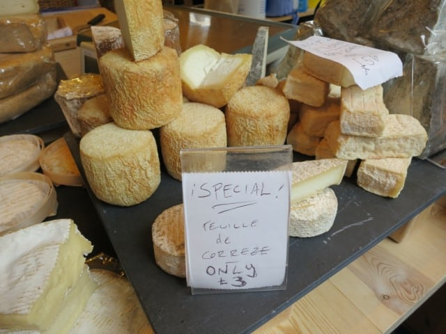 Cheese at Borough Market in London England