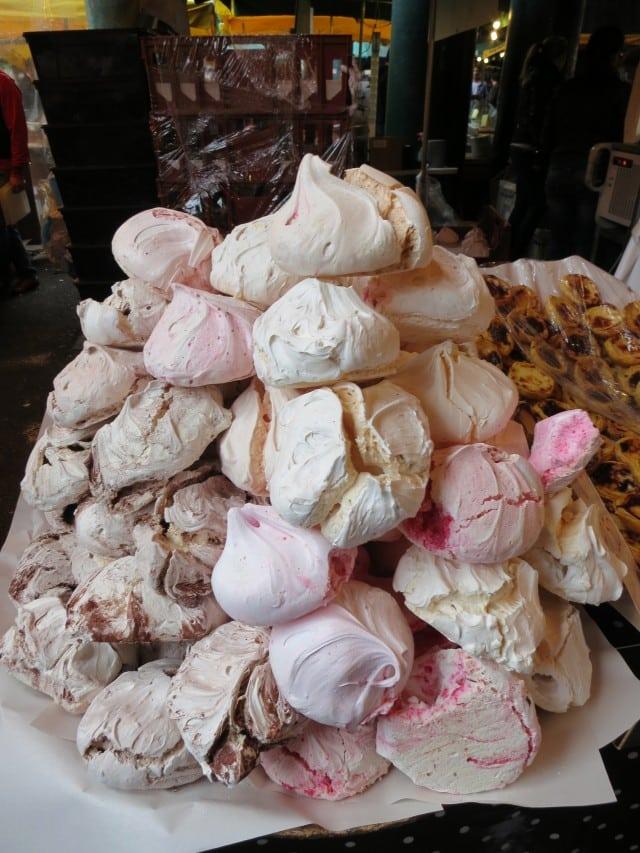 Meringues. A Taste of London in 44 Hours. Borough Market