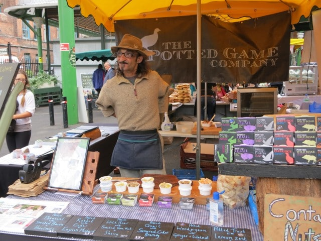 Potted Meats Dude at Borough Market in London England