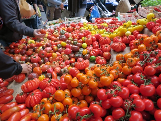 Tomatoes at Borough Market in London England