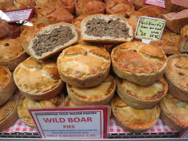 Meat Pies at Borough Market in London England
