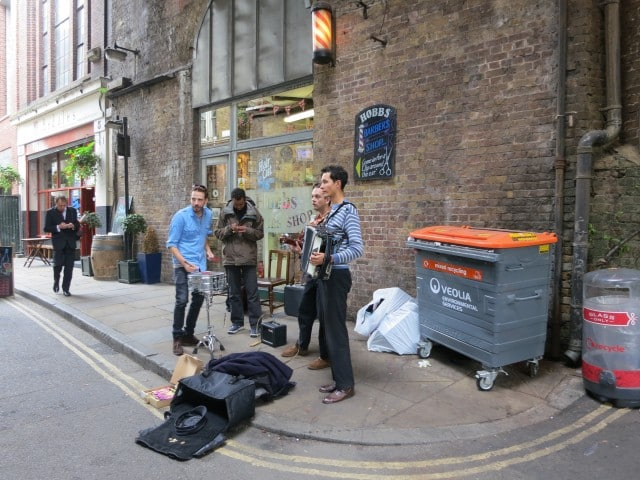 Musicians at the Borough Market in London England