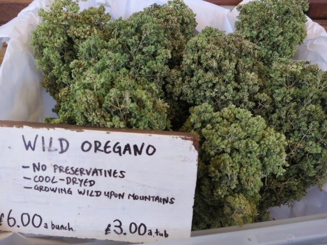 Wild Oregano at Borough Market in London England