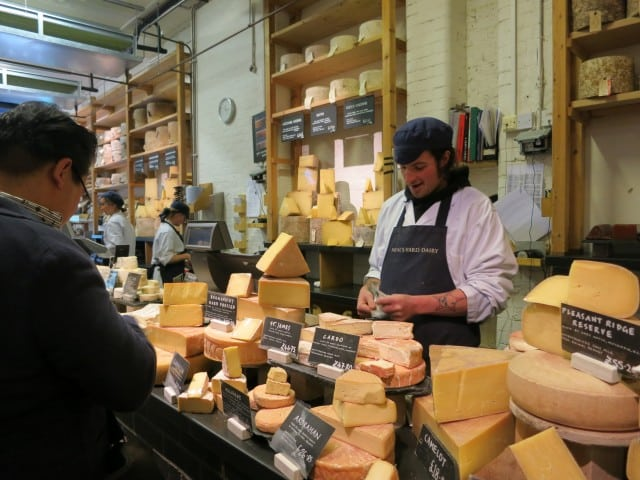 Cheese Counter. A Taste of London in 44 Hours. Neal's Yard Dairy
