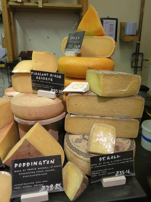 Neal's Yard Dairy Cheese Selection in London England