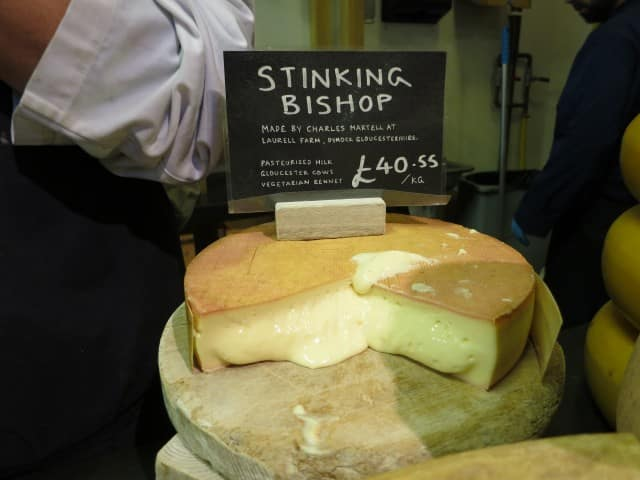 Stinking Bishop Cheese at Neal's Yard Dairy in London England