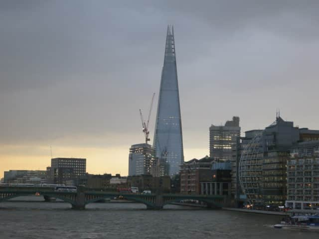 View of the Shard Building from the Millennium Bridge. A Taste of London in 44 Hours