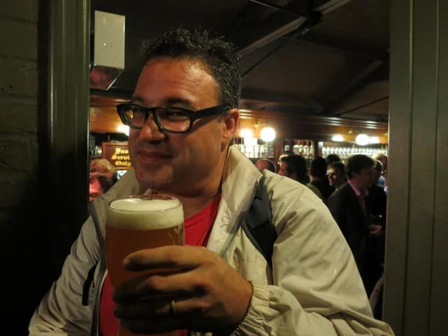 Beer at Ye Olde Cheshire Cheese Pub in London England
