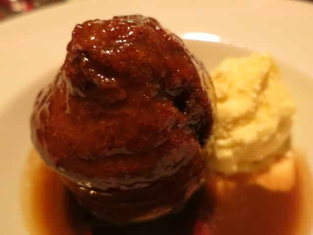 Sticky Toffee Pudding at Mitre in London England