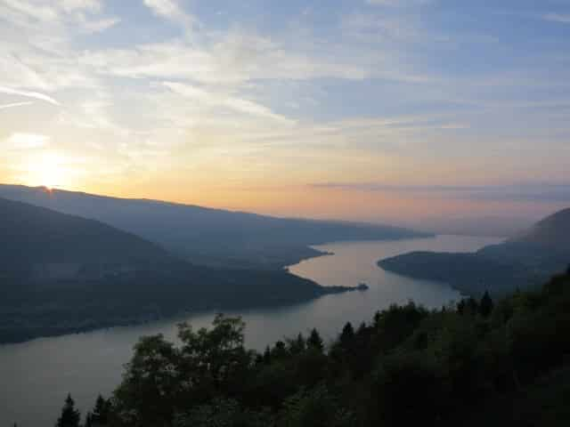 Sunset over Lac d'Annecy. A Slice of Heaven in the French Alps
