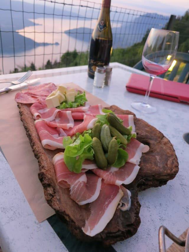 Charcuterie and Wine. A Slice of Heaven in the French Alps