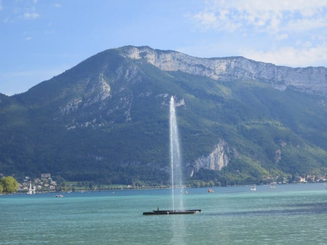 Fountain in the Lake. A Slice of Heaven in the French Alps
