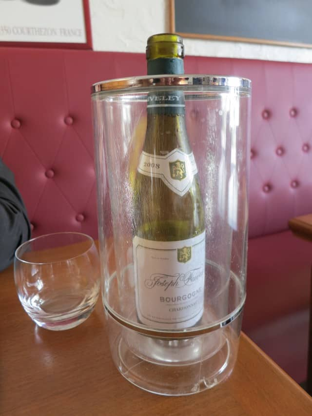 Wine at Ma Cuisine in Beaune Burgundy France
