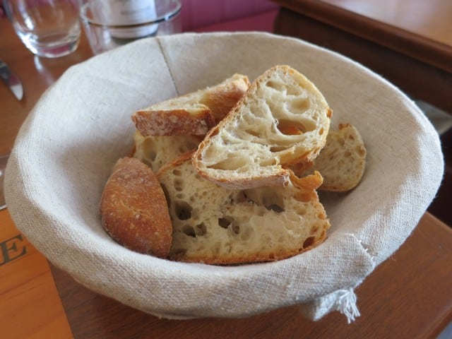 Bread Basket at Ma Cuisine in Beaune Burgundy France