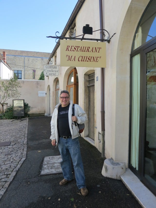 Daryl in front of Ma Cuisine in Beaune Burgundy France