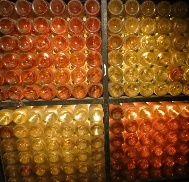 Wine Bottles in Beaune Burgundy France