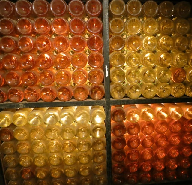Shiny Bottles Beaune Burgundy France