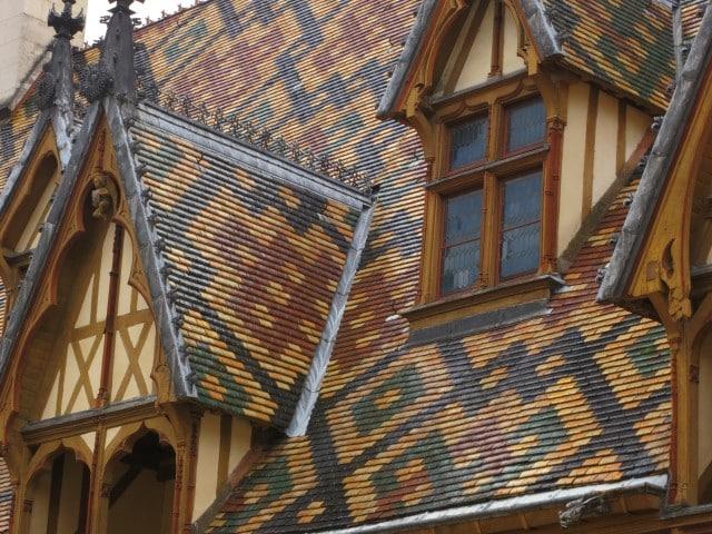 Roof Tiles Up Close Beaune Burgundy France