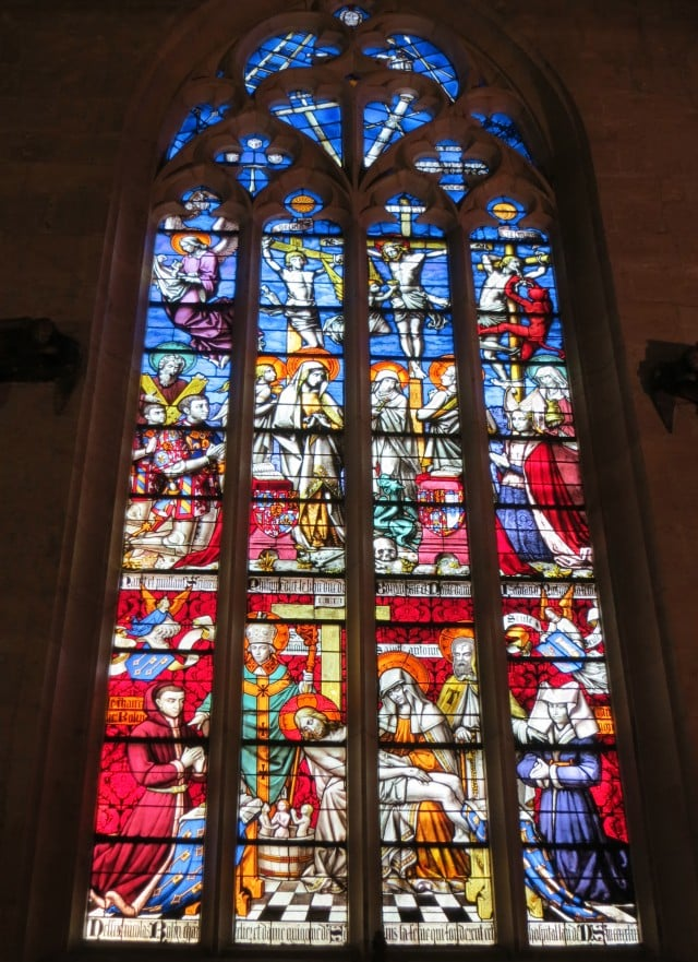 Chapel Window in Beaune Burgundy France