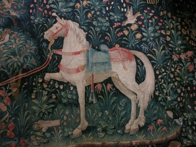 Horse Tapestry in Beaune Burgundy France