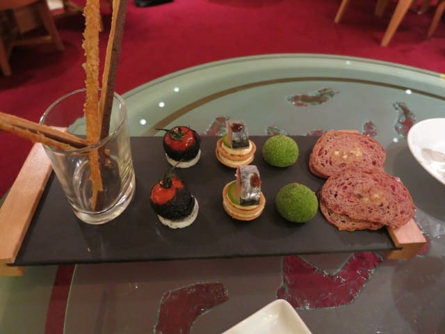 Hors D'Oeuvres at Maison Lameloise in Burgundy France