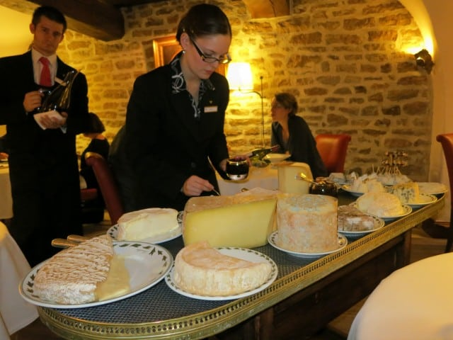 Cheese Cart at Maison Lameloise in Burgundy France