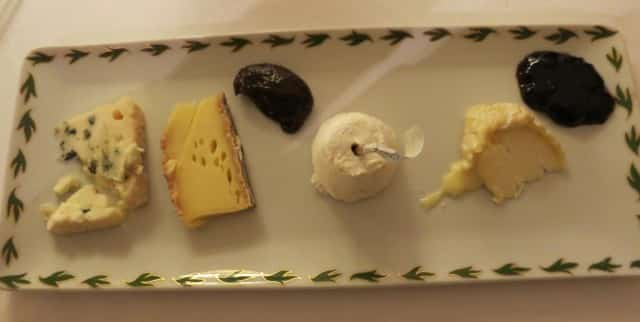 Cheese Plate at Maison Lameloise in Burgundy France
