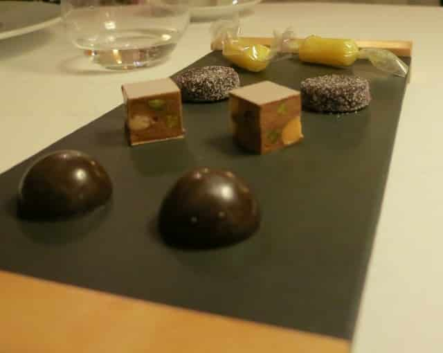 Chocolates at Maison Lameloise in Burgundy France