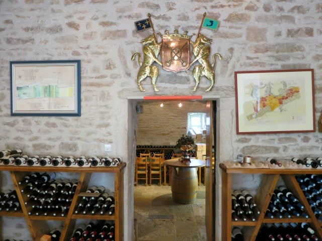 Chassagne-Montrachet Tasting Room in Burgundy France