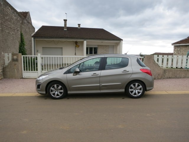 Peugeot Rental Car in Burgundy France