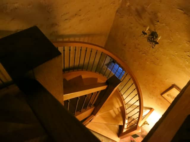 Stairway from Attic Bedroom at La Ruchotte in Burgundy France