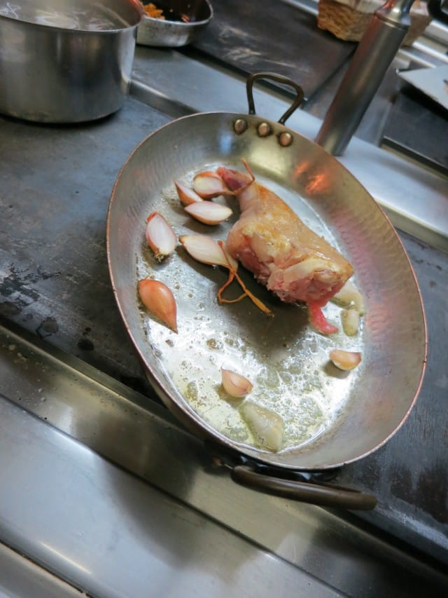 Rabbit in the Pan at La Ruchotte in Burgundy France