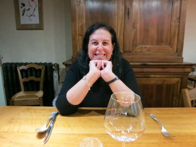 Excited for Dinner at La Ruchotte in Burgundy France