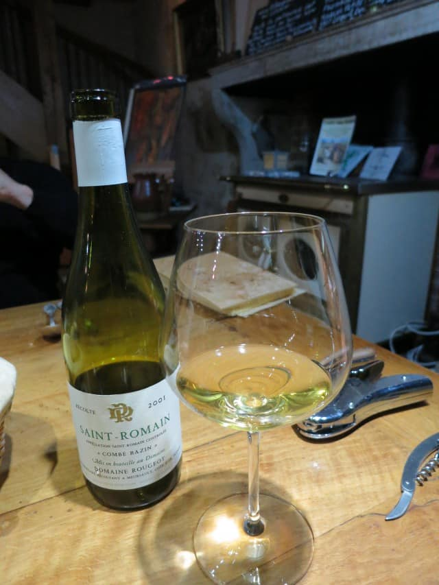 Wine at La Ruchotte in Burgundy France