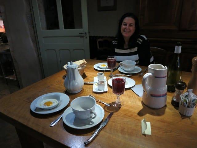 Breakfast Time at La Ruchotte in Burgundy France