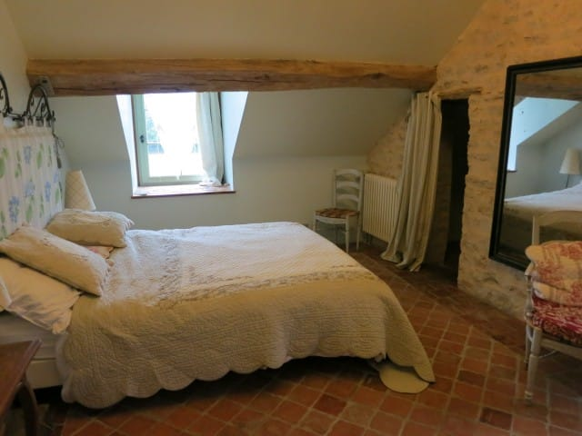 Attic Bedroom at La Ruchotte in Burgundy France