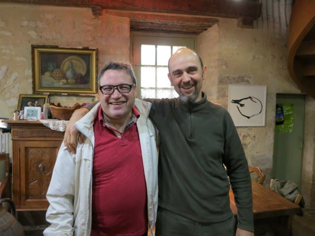 Daryl and Frederic at La Ruchotte in Burgundy France