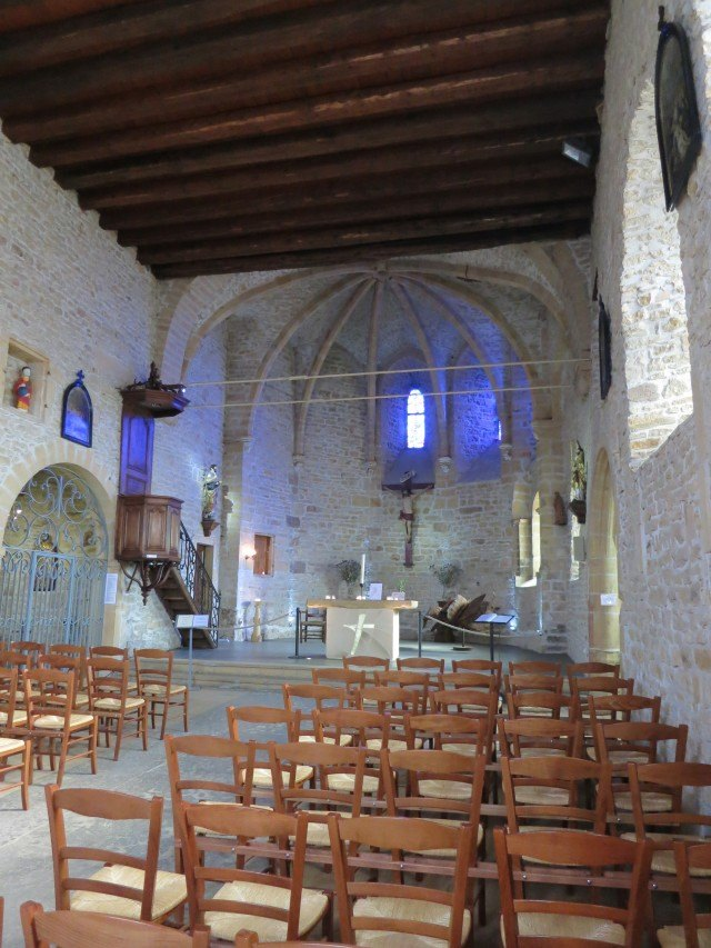 Inside the Medieval Church Beaujolais France