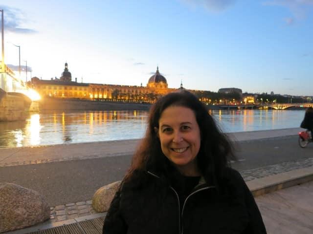 Mindi next to the Rhone Lyon France