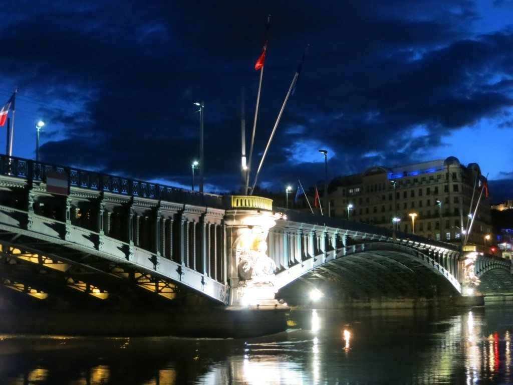 Rhone River - Pont Lafayette Bridge Lyon France