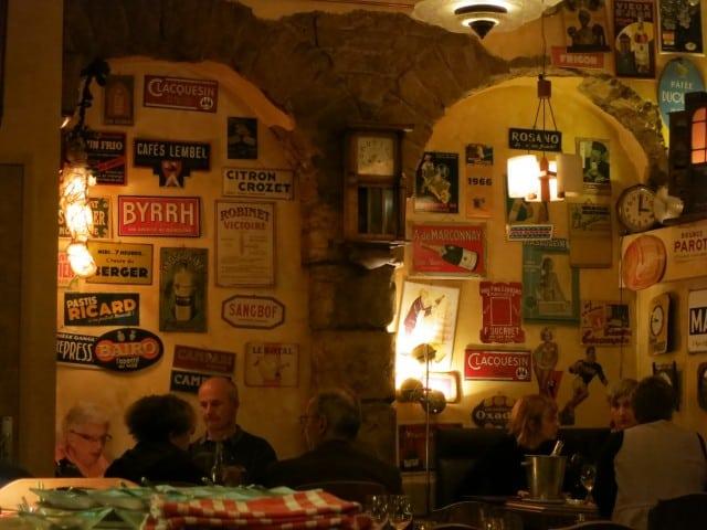 Dining Room at Le Canut & Les Gones Lyon France