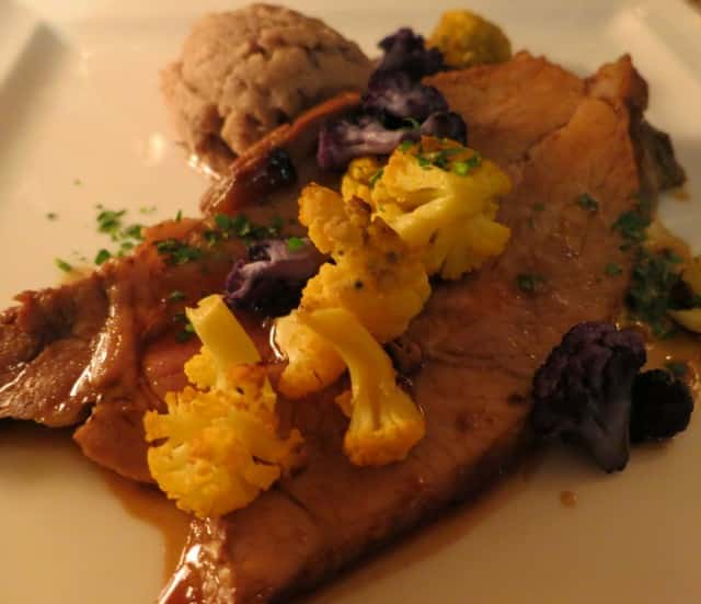 Pork Shoulder with Quenelle and Cauliflower Lyon France