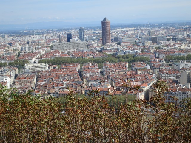 View from Fourviere Hill in Lyon France