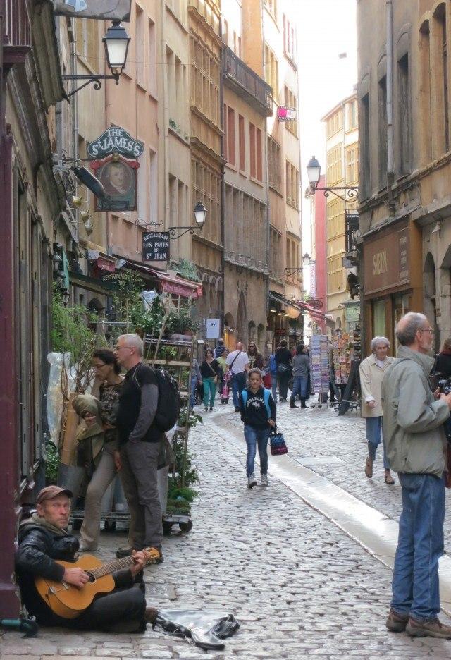 Vieux Lyon Street in Lyon France