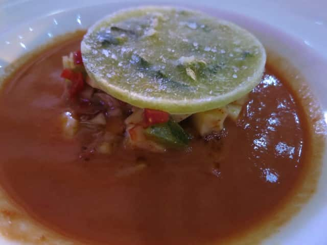 Gazpacho at Le Potager des Halles in Lyon France