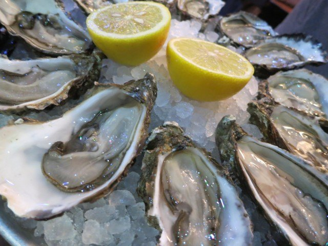 Briny Oysters in Lyon France